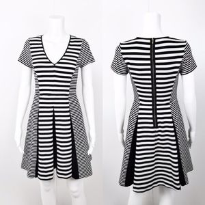Banana Republic Faille Black & White Striped Dress